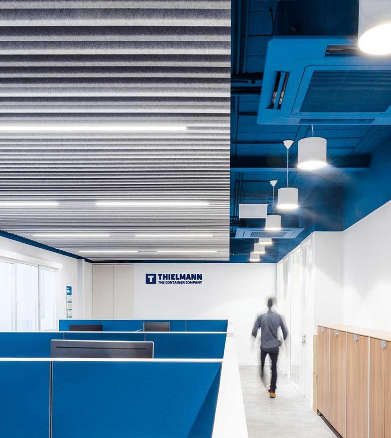 Interiorismo de las oficinas de Thielmann