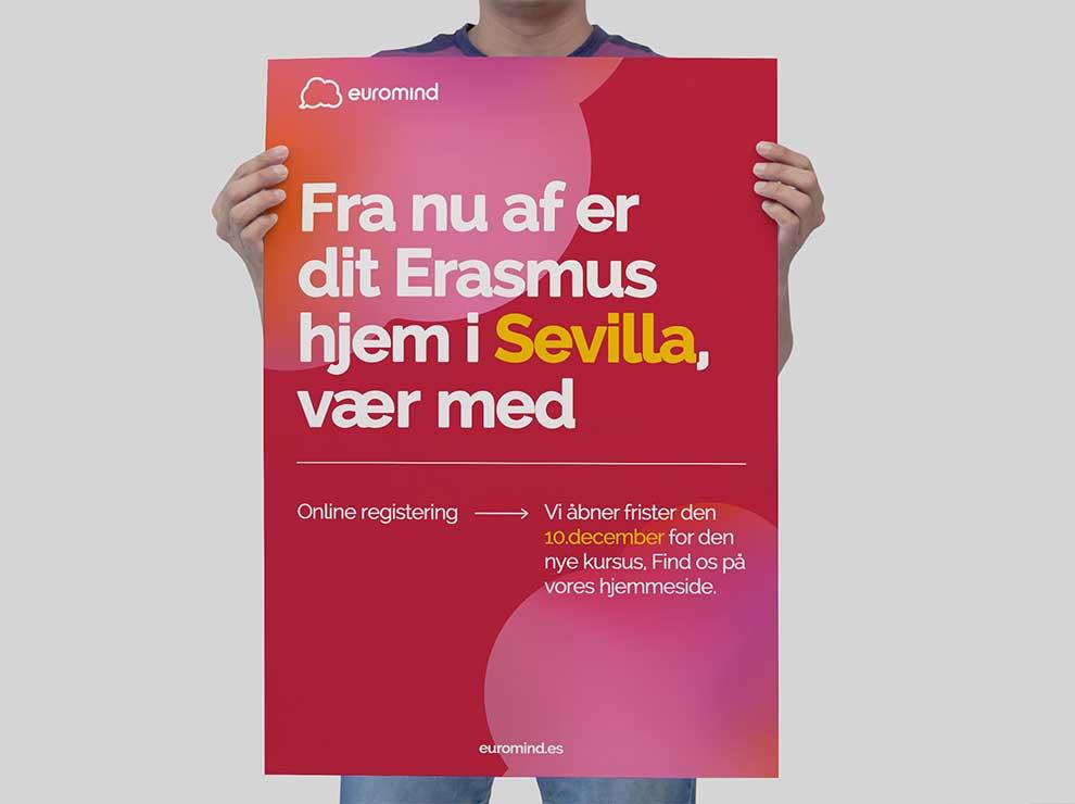 Diseño de cartel con colores contraste.