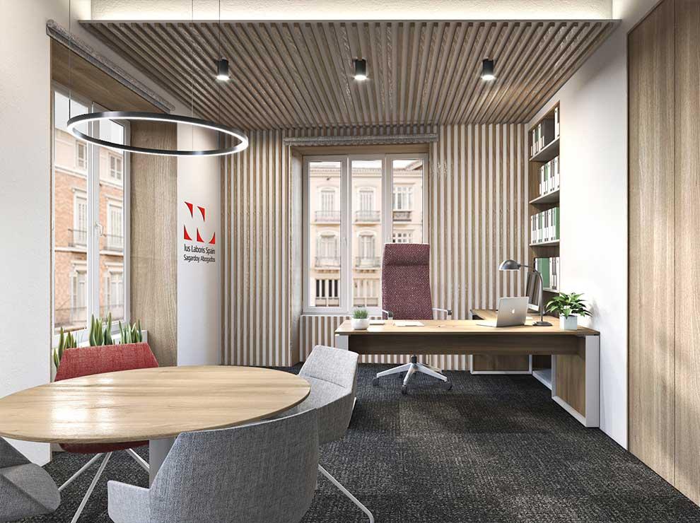 Diseño de despacho principal de Sagardoy