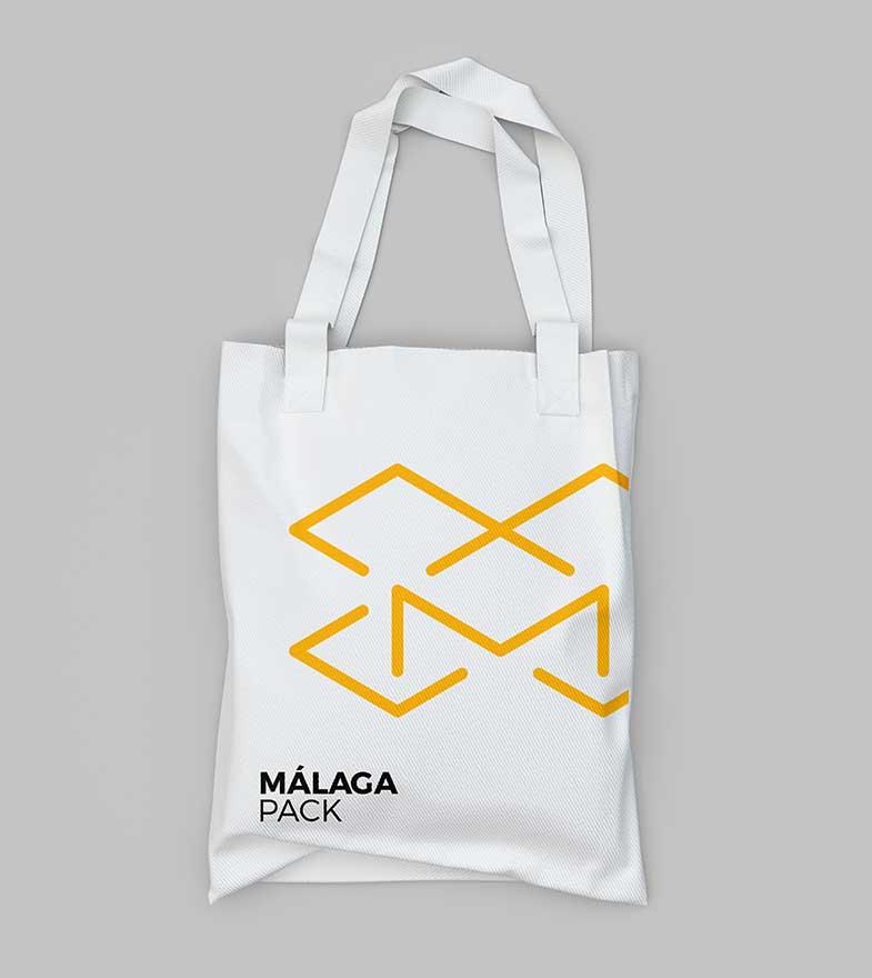 Branding aplicado a una bolsa de tela