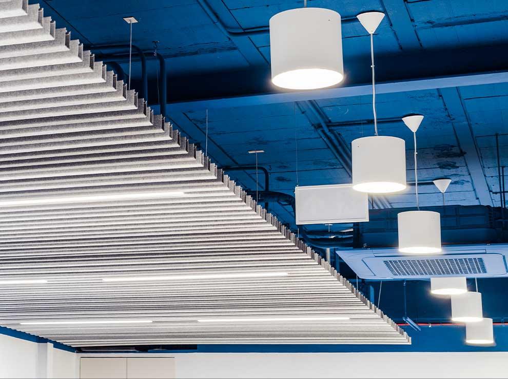 Detalle de los techos de las oficinas de Thielmann