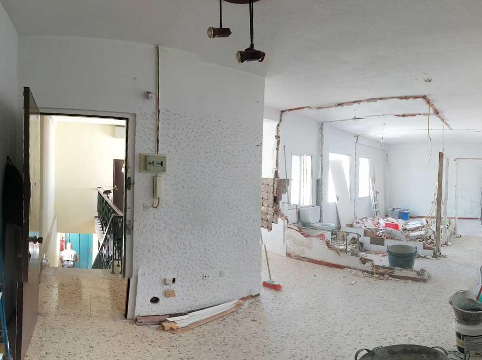 Reforma de un piso con espacios diáfanos
