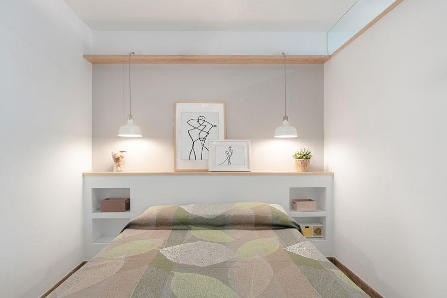 Interiorismo de dormitorio en casa vacacional en Almería