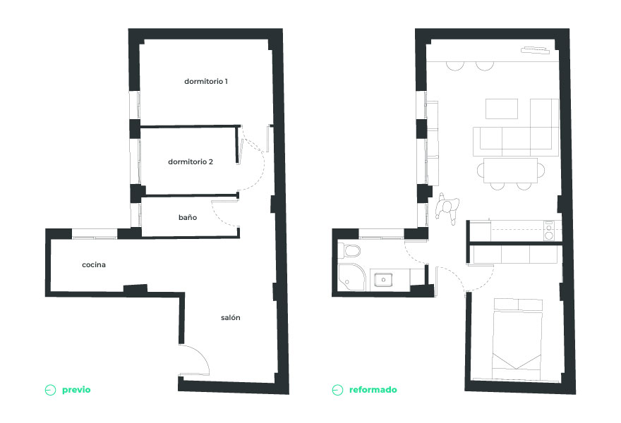 Small home layout
