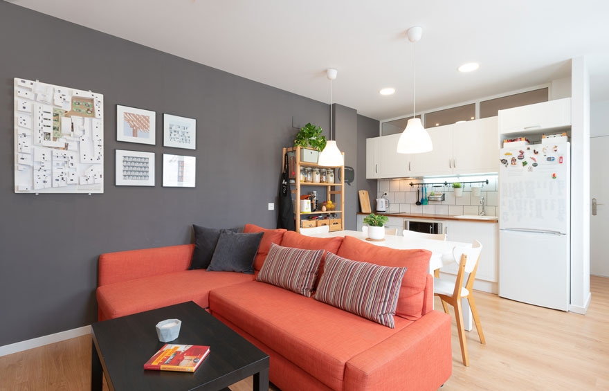 Multifunctional open space in small home design