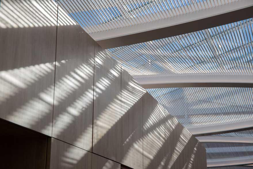 Diseño de techo textil para restaurante