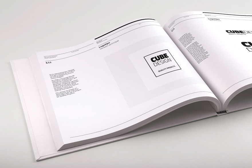 Corporate manual design for Cube Design