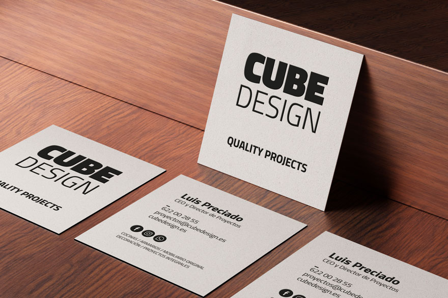 Corporate identity and business card design for Cube Design