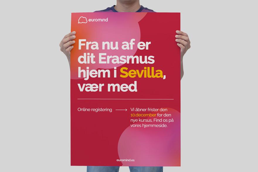 Diseño de cartel con la nueva imagen corporativa de Euromind
