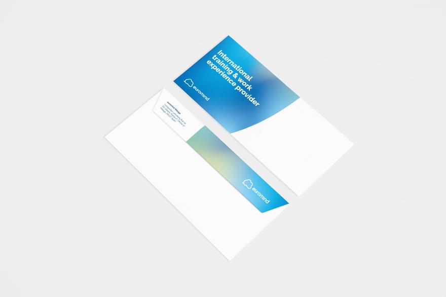 Diseño de papelería corporativa de Euromind