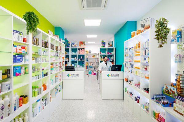 Diseño de distribución en la farmacia Pinosol