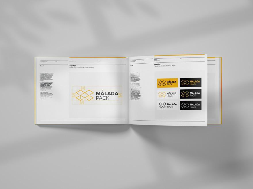 Manual de identidad corporativa de Málaga Pack