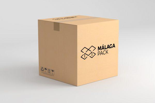 Logotipo aplicado a caja de cartón