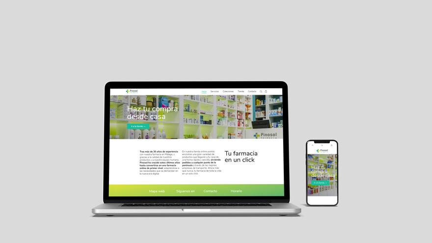 Diseño web de tienda para Farmacia Pinosol