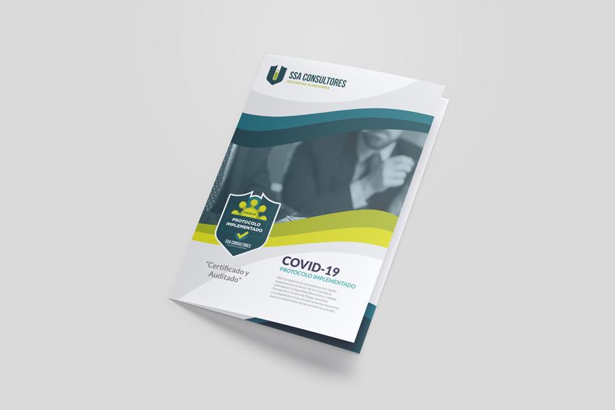 Diseño de folleto explicativo para SSA Consultores