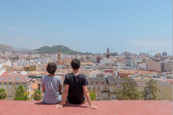 Vistas de Málaga desde un ático