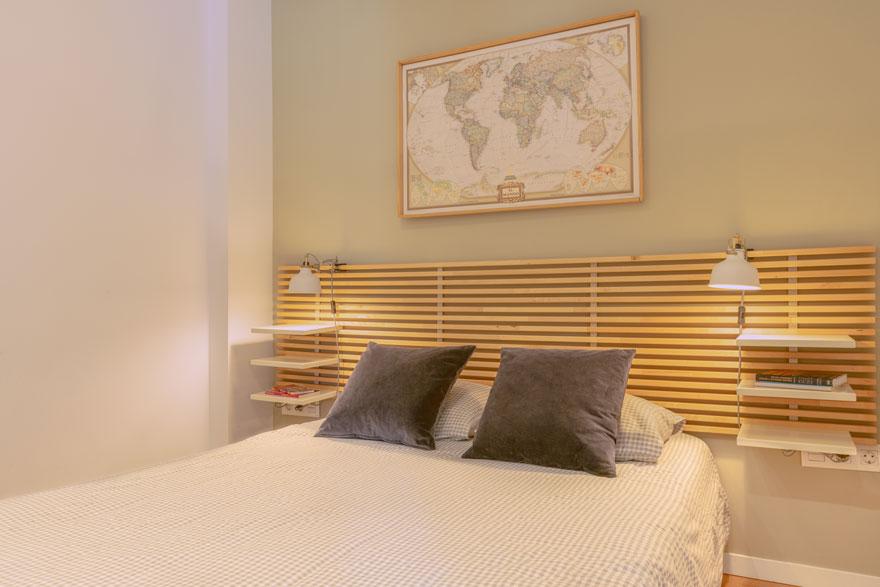 Interior design of bedroom in a small home in Malaga