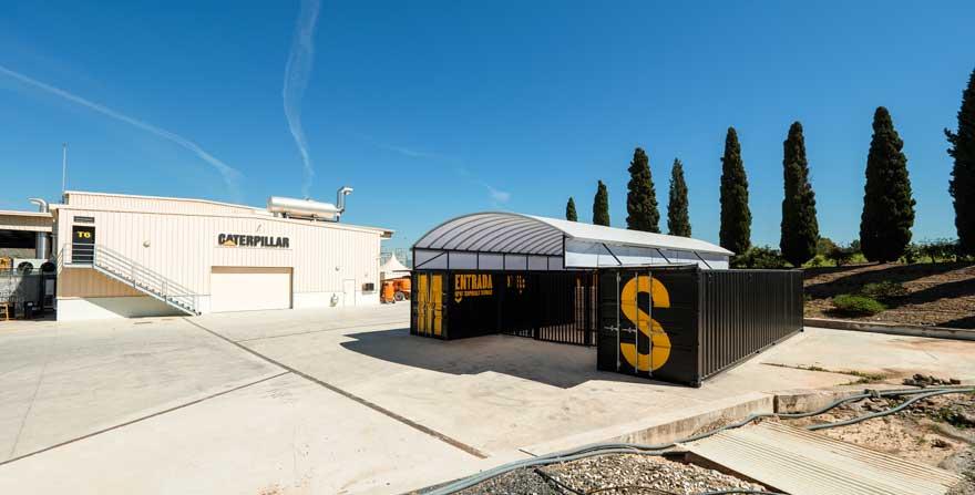 Diseño de shipping and receiving de Caterpillar Malaga