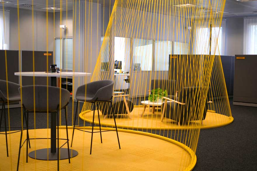Textile architecture for office in Malaga