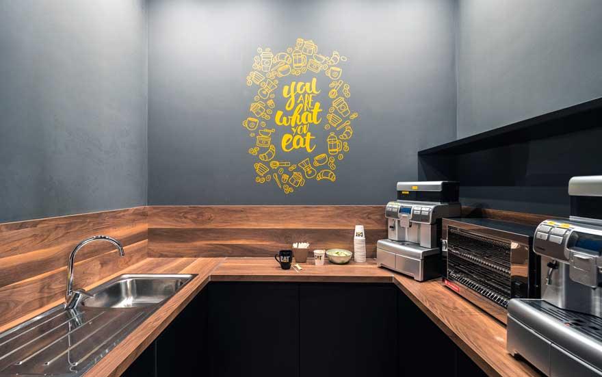 Kitchen design  for Caterpillar Malaga canteen