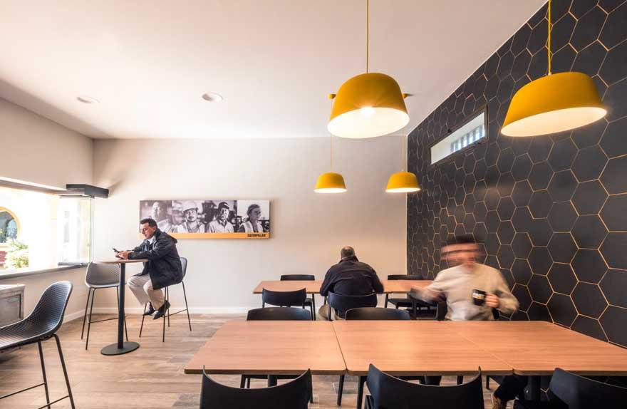 Cafe Interior design for Caterpillar Málaga