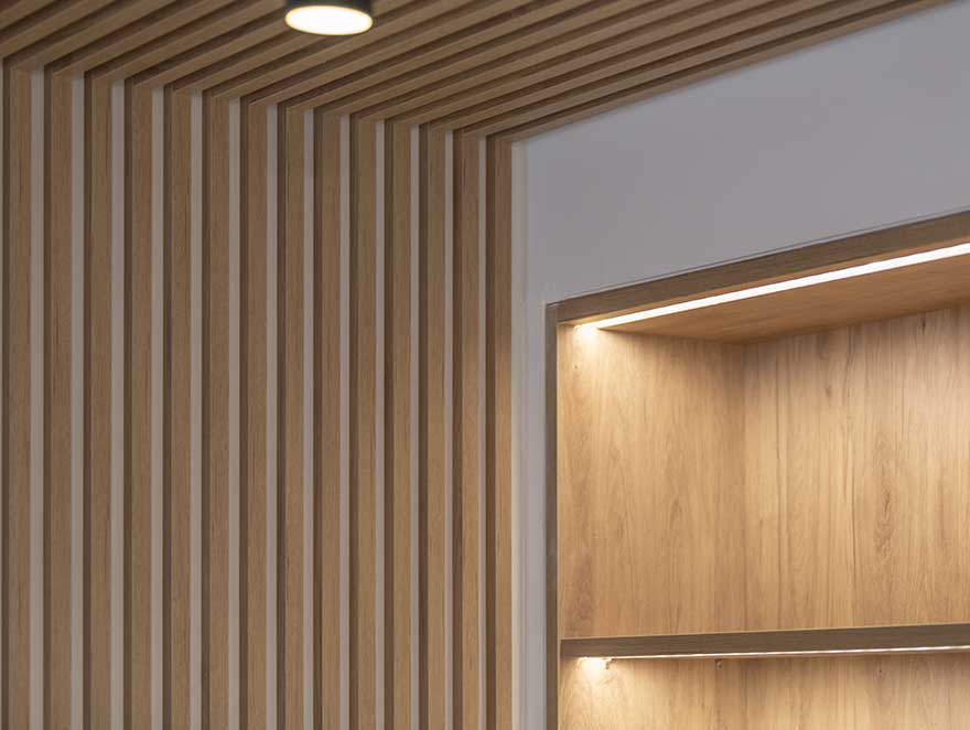 Wood detail in office design