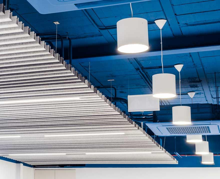 Diseño de techo en espacios de trabajo Thielmann