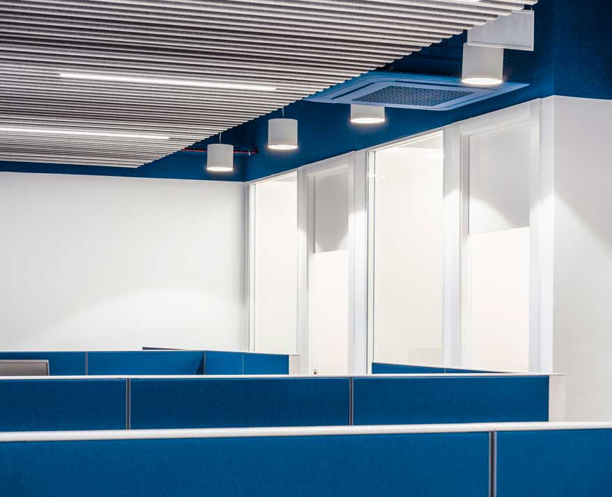 Interior design of workspace for Thielmann company