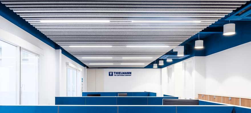 Branding espacial de oficina Thielmann