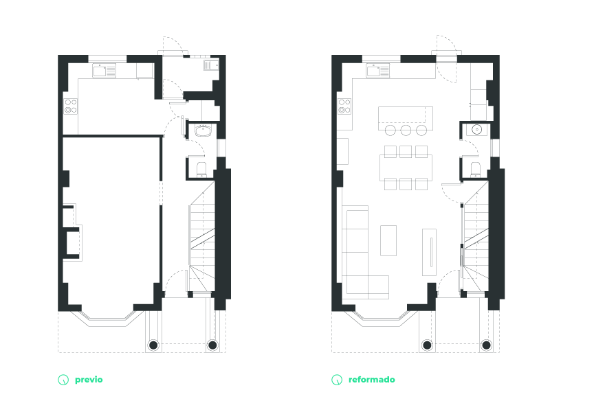 layout of a semi-detached house in Malaga