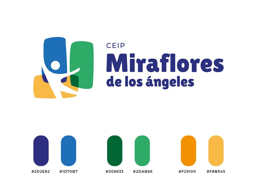 Logo del colegio Miraflores y colores corporativos