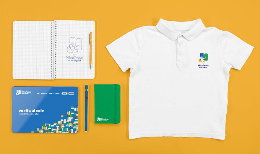 Aplicaciones de marca del colegio Miraflores