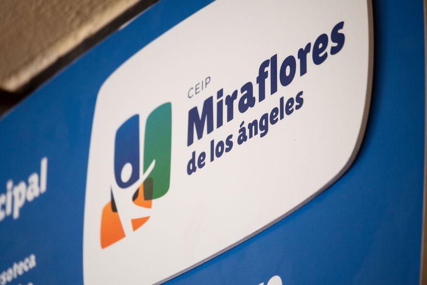 zoom de señalética del colegio Miraflores