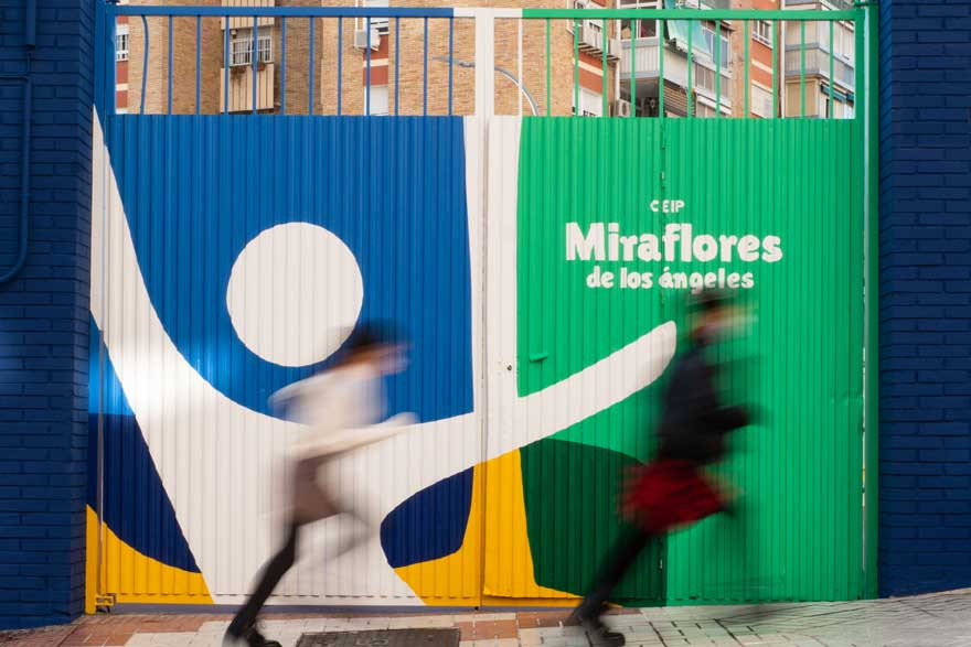 design of access to the Miraflores school