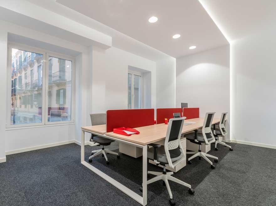 Diseño de interiores de espacio de trabajo staff