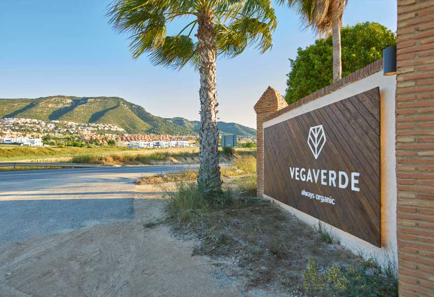 space branding of the sign for Vegaverde company