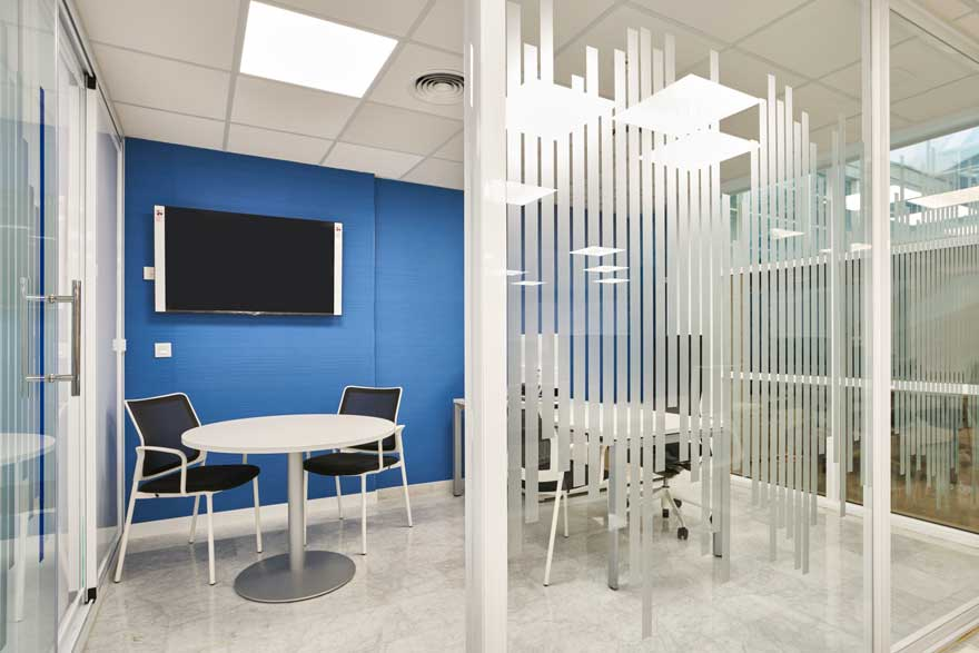 interiorismo de despacho para oficina en Málaga
