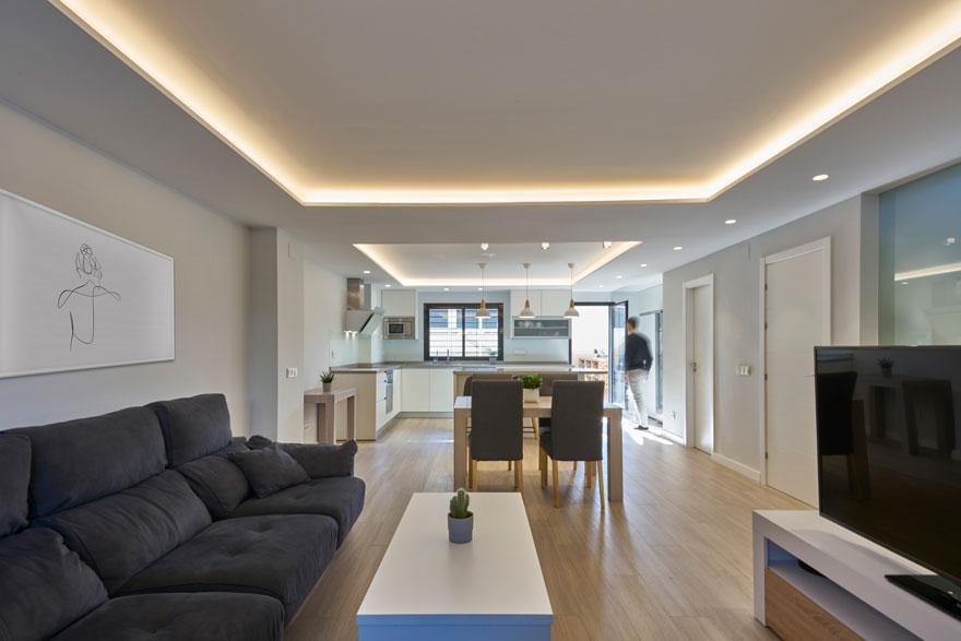 iluminación ambiental de vivienda en Málaga