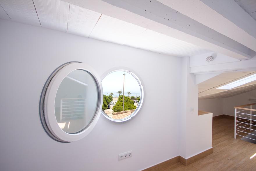 diseño de home office en ático